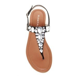 Rampage Callie Jeweled Sandals